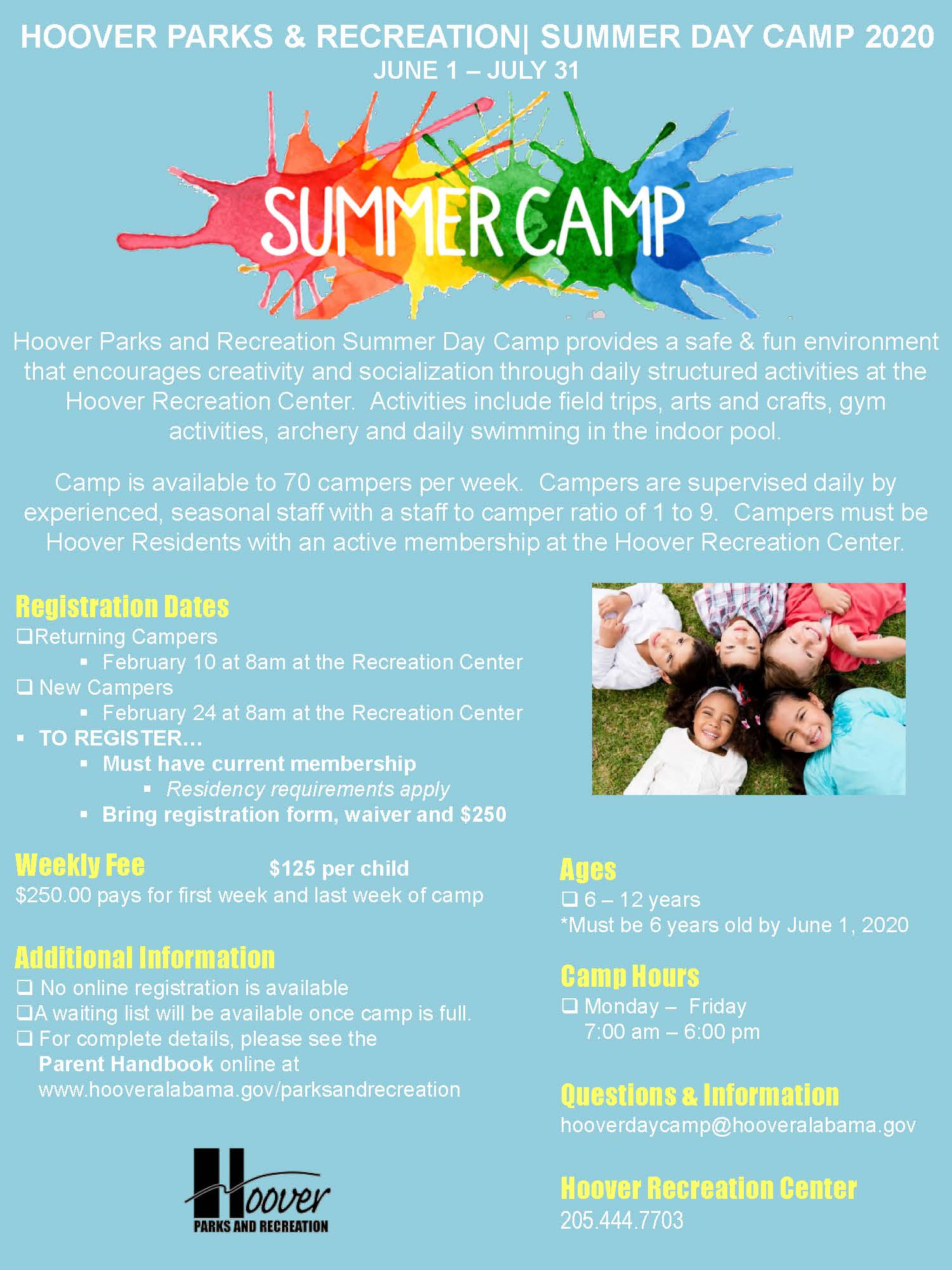 2020 Day Camp Flyer